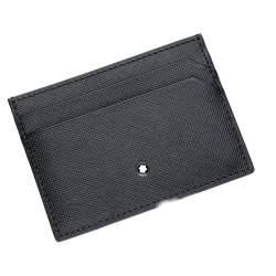 Custodia tascabile 5 scompartil in pelle nera - MONTBLANC