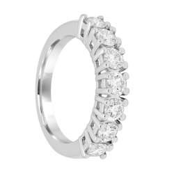 Veretta 7 pietre in oro bianco con diamanti mis 14 - ALFIERI & ST. JOHN