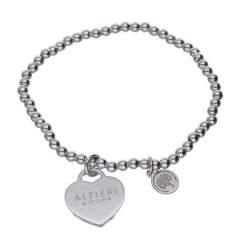 Bracciale in argento con cuore - ALFIERI & ST. JOHN 925