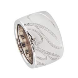Anello in oro bianco con diamanti ct 0.35, misura 14 - CHOPARD
