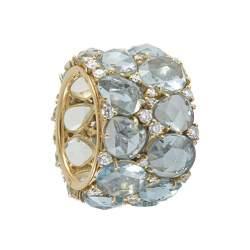 Anello Pomellato in oro giallo con topazi bianchi e diamanti - POMELLATO