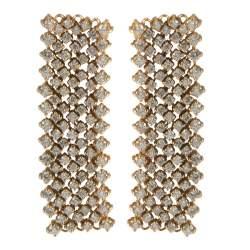 Orecchini 7 file in oro bianco con diamanti ct 3.10 misura 7.00cm - ALFIERI ST JOHN