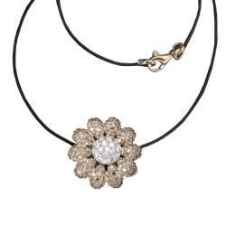 Collana con pendente in oro rosa e diamanti - ROBERTO DEMEGLIO