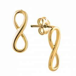 Orecchini in oro giallo simbolo infinito - ORO&CO