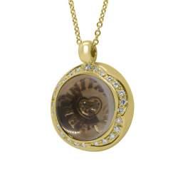 Collier Pasquale Bruni oro giallo con diamanti ct 0,33 e rubino ct 0,06 - PASQUALE BRUNI