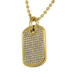Collana in acciaio, pendente con cristalli - TOMMY HILFIGER