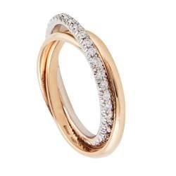 Anello in oro giallo e diamanti, misura 16 - ALFIERI & ST. JOHN