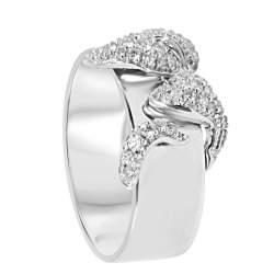 Anello in oro bianco con diamanti mis 13 - ALFIERI & ST. JOHN