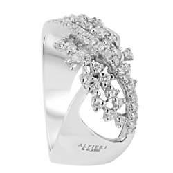 Anello in oro bianco con diamanti mis 14 - ALFIERI ST JOHN