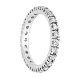 Anello Eternity in oro bianco e diamanti ct 0.75 misura 14 - ORO&CO