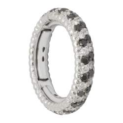 Anello in oro con diamanti ct 0.65 e diamanti neri ct 0.70 - ALFIERI & ST. JOHN