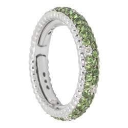 Anello in oro con diamanti ct 0.15 e tsavorite ct 1.30 mis 11 - ALFIERI & ST. JOHN