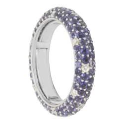 Anello in oro con diamanti ct 0.30 e pietre semipreziose ct 2.40 mis 16 - ALFIERI & ST. JOHN
