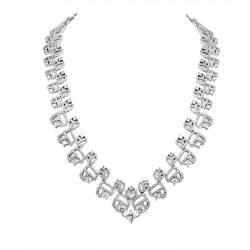 Collana Damiani in oro bianco con diamanti ct 11,53 - DAMIANI