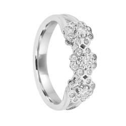 Anello Damiani in oro bianco con diamanti ct 0,38 - DAMIANI