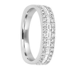 Anello in oro bianco con diamanti ct 0.72 misura 15 - SALVINI