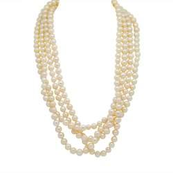 Collana multifilo di perle, lunghezza 198cm - RIVIK