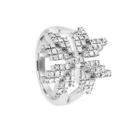Anello Salvini collezione Stella in oro bianco e diamanti - SALVINI