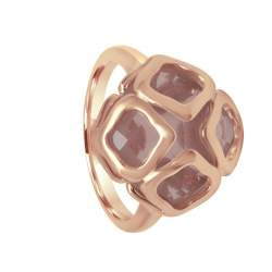 Anello Chopard in oro rosa con quarzo rosa - CHOPARD