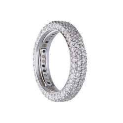 Anello eternity in oro bianco con diamanti - ALFIERI & ST. JOHN