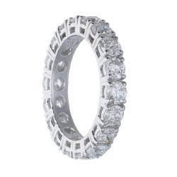 Anello eternity in oro bianco con diamanti mis 14 - ALFIERI & ST. JOHN