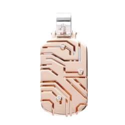 Ciondolo da uomo in oro rosa con diamanti bianchi ct 0.03 - BARAKA
