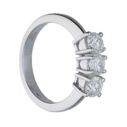 Anello in oro bianco con diamanti ct. 0,45 - ALFIERI & ST. JOHN